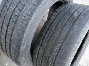 P265/50R20 pair of Bridgestone all-season tires with good tread.