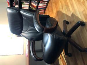 Chaise de bureau en cuir La-z-boy