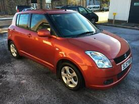 5707 Suzuki Swift VVTS 1.5 GLX Orange 5 Door 62843mls MOT Oct 2017