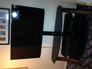 "46"" Samsung TV with stand"