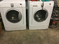 stacking front loads, dryer works fine washer soso