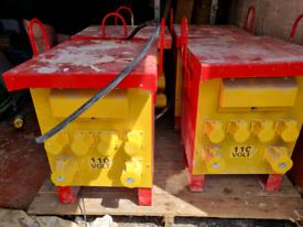 Tradesafe 10KVA SITE transformers x 4