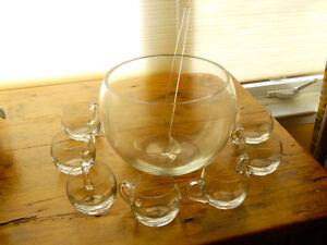 glass punch bowl set- made in Poland Peterborough Peterborough Area image 1