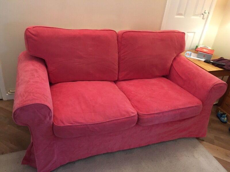 Lovely Pink Ikea Vellinge Ektorp 2 Seater Sofa