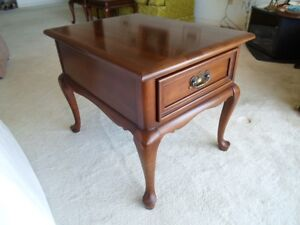 Gibbard End Table solid cherry wood with one drawer