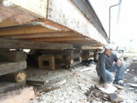 House Lifting/Levelling foundation work floor joists beams
