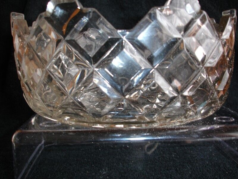 Sowerby Art Deco Flint  Glass  Cupped/Straight Bowl 1930's