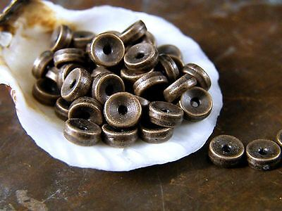 Antique Copper Disc-Rondelle-Spacer Beads-5x2mm (50)