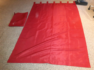 """Red curtains - full length 78"""" x 52"""" - Rideau rouge"""
