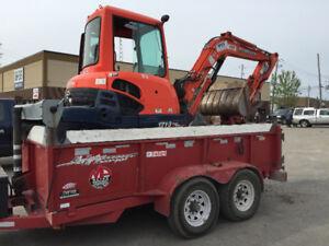 remorque dompeur 2 essieux 14000 kg  trailer dumper 6 tons carry