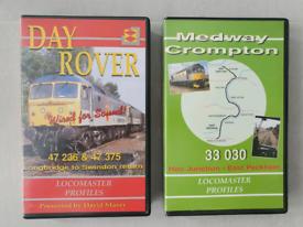 Railway cab ride VHS videos x 2