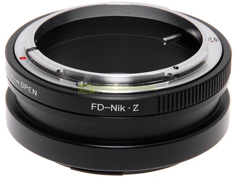 Adapter per obiettivi Canon FD-FL su fotocamera Nikon Z mirrorless. Adattatore.