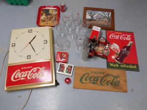 Coke clock and coke items left from my collection