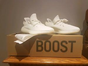 Cream yeezy boosts brand new never worn
