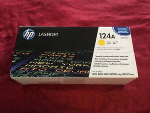 Genuine HP 124A Yellow LaserJet Toner Brand New
