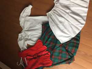 Highland dancing - red and green Aboyne