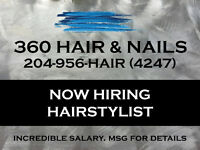 Hairstylist wanted for modern downtown salon. No weekends!!!