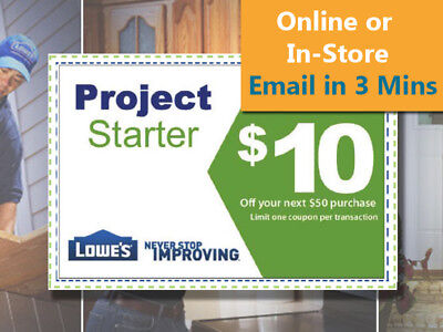 Two(2x) Lowe's $10 Off Next $50 Discount- Lowes discount 1/19/18