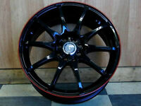 Brand New!!! 18 inch black with RED STRIPE wNEW TIRES - VW211