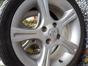 17 in Nissan Sentra Aluminum Rims with tires