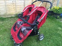 Mini city jogger baby double red and grey