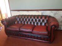 Chesterfield three seater sofa