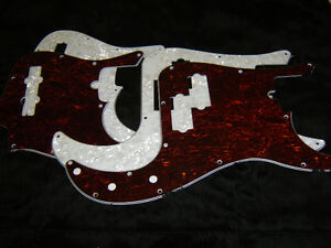 P Bass or J Bass Pickguard, 3 ply , Fits Fender