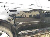 Audi A3 driver side rear door 2008 black