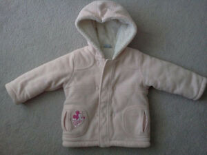 12-18m Girl's sweaters & Winter Jacket - $5 for all 3 jacket