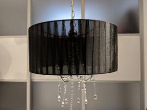 Luminaire de style classique noir