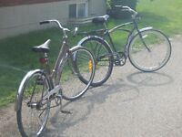 His and Her Bicycles, Buy Both, Great Exersize