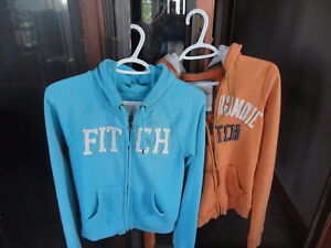 Girls Youth Abercrombie & Fitch Hoodies - Size S & M Lot of 2