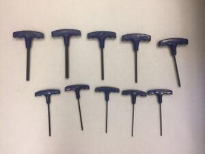 10 Piece T-Handle Hex Key Set (Allen Keys)