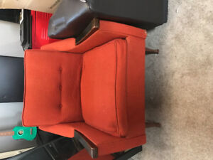 Antique Orange Retro Chair