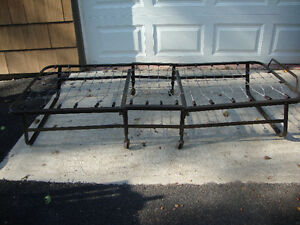 Metal fold up bed/cot frame. NO MATTRESS / MAKE A OFFER