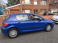 2004 Peugeot 307 1.4 Hdi only £ 30 a year to tax mot Feb 17