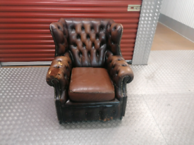 VINTAGE CHESTERFIELD Armchair delivery available