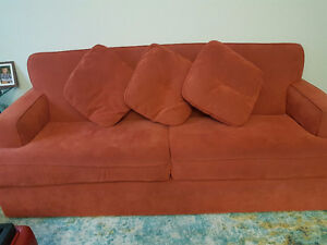 Great condition couch loveseat and ottoman