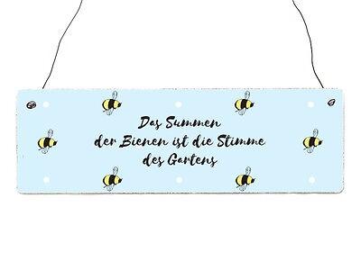 Bienen Summen (Holzschild Dekoschild DAS SUMMEN DER BIENEN Imker Spruch Hobby Shabby Geschenk)