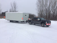 Transport roulottes de chantier et Fifth Wheel