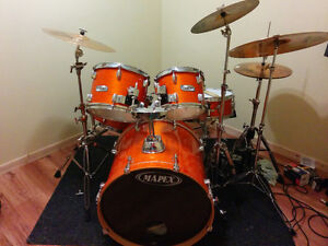 Ensemble Batterie/Drum Mapex M-Birch Orange Saguenay Saguenay-Lac-Saint-Jean image 1