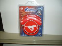 CFL Calgary Stampeders Jersey Shaped Rubber Coasters *NEW*