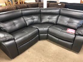 Harveys Langale grey reclining corner sofa ex display model