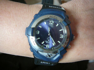 Men's Sport Watch with Blue LED lights