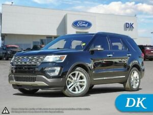 2016 Ford Explorer Limited 301A AWD w/Leather, Nav, and More!
