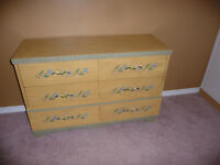 solid wood 6 drawer double dresser