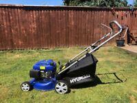 Hyundai 139cc petrol mower used 4 times