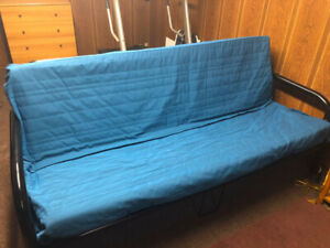 Futon with Mattress and Mattress Cover