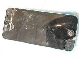 Blue iphone 5c broken screen - USE FOR PARTS