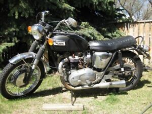 Old Triumph Motorcycle
